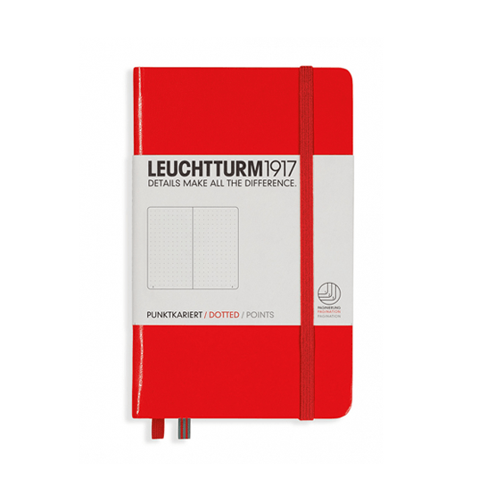 Leuchtturm A6 Red Notebook Pocket Dotted Hardcover