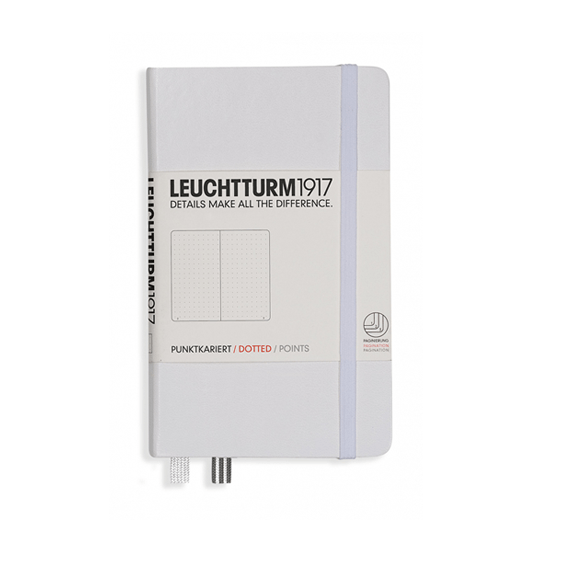 Leuchtturm A6 White Notebook Pocket Dotted Hardcover