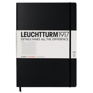 Leuchtturm Notebook Master Slim Black Squared Hardcover