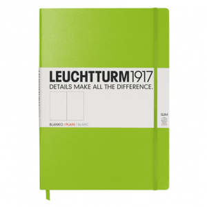 Leuchtturm Notebook Master Slim Lime Plain Hardcover