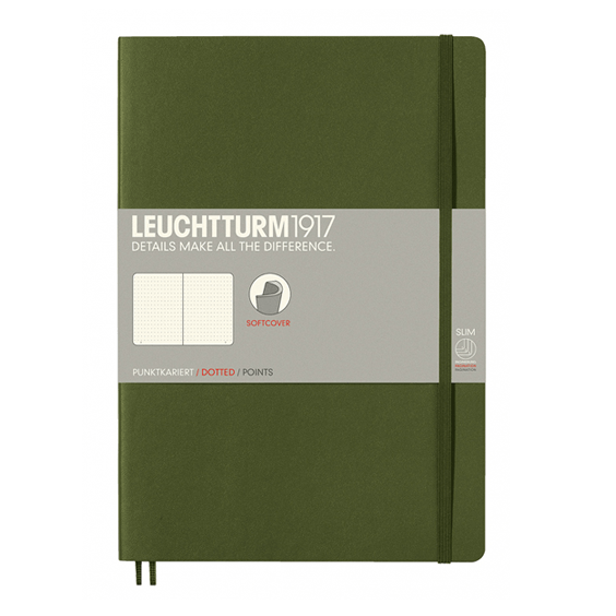 Leuchtturm B5 Army Notebook Dotted Softcover