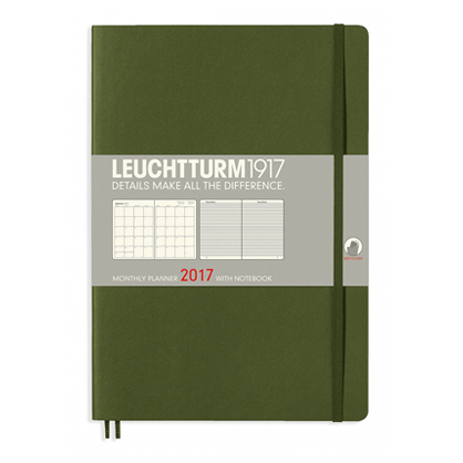 Leuchtturm Army B5 Monthly Planner 16 Months Softcover Composition 2017