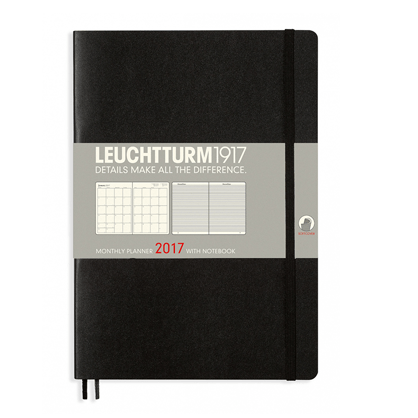 Leuchtturm Black B5 Monthly Planner 16 Months Softcover Composition 2017