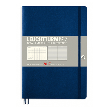 Leuchtturm Navy B5 Monthly Planner 16 Months Softcover Composition 2017