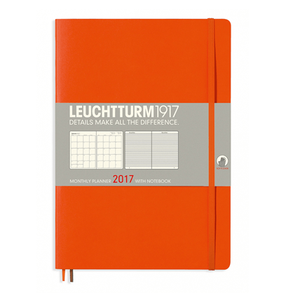 Leuchtturm Orange B5 Monthly Planner 16 Months Softcover Composition 2017