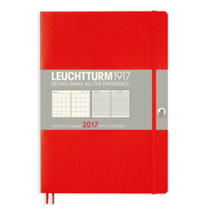 Leuchtturm Red B5 Monthly Planner 16 Months Softcover Composition 2017