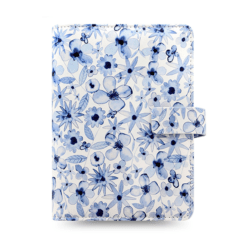 Filofax Patterns Indigo Floral Pocket Organiser