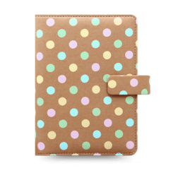 Filofax Patterns Pastel Spots Pocket Organiser