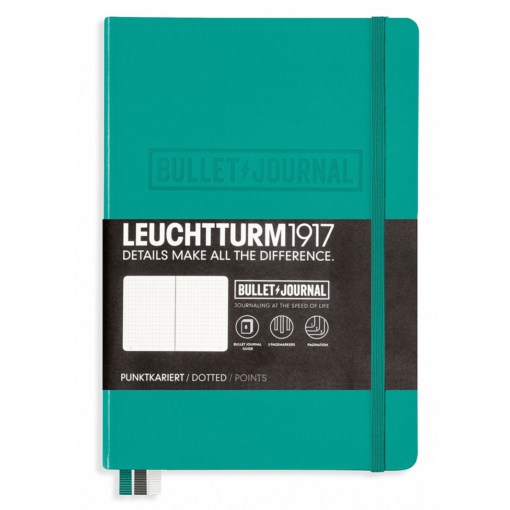 Leuchtturm A5 Bullet Journal Notebook Medium Dotted Hardcover – Emerald