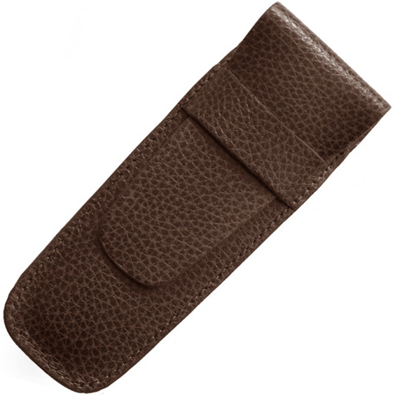 Laurige Double Brown Leather Pen Case