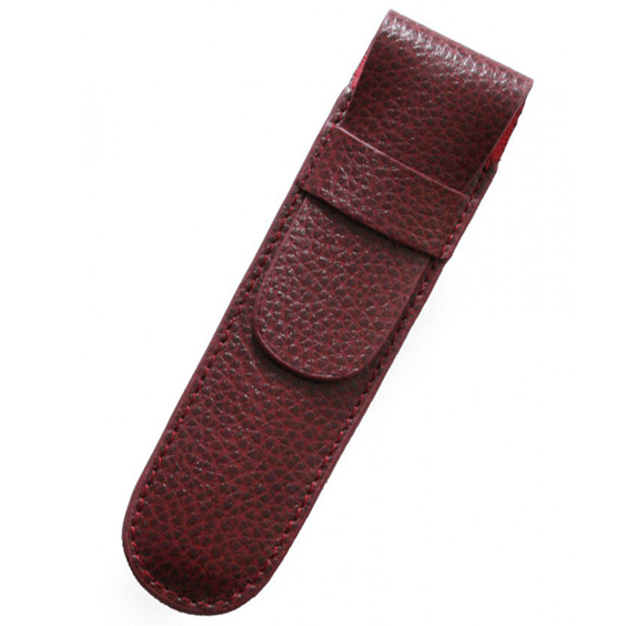 Laurige Single Leather Burgundy Pen Case