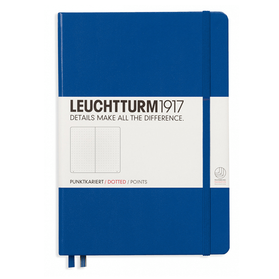 Leuchtturm A5 Notebook Medium Royal Blue Dotted Hardcover