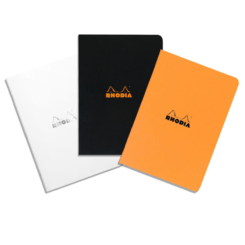 A5 Medium Side-Stapled Rhodia Notebook – Graph