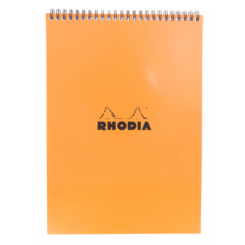 Orange Rhodia No 18 Top Wirebound Notebook - Squared