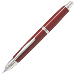 Pilot Capless Red Rhodium Trim Fountain Pen