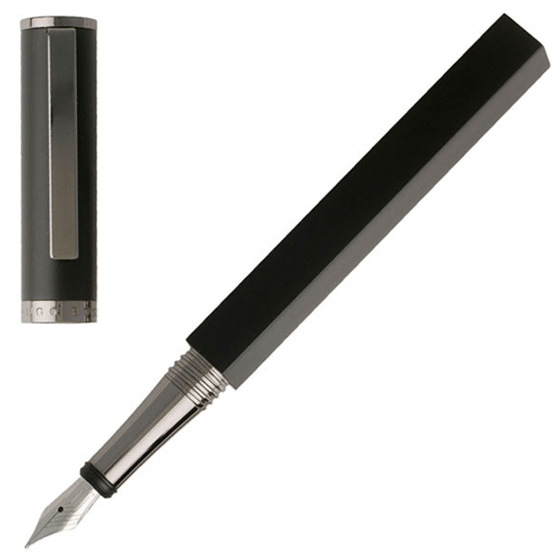 Hugo Boss Bauhaus Gun Metal Black Fountain Pen