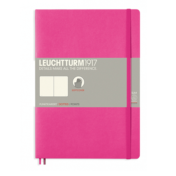 Leuchtturm B5 New Pink Notebook Dotted Softcover