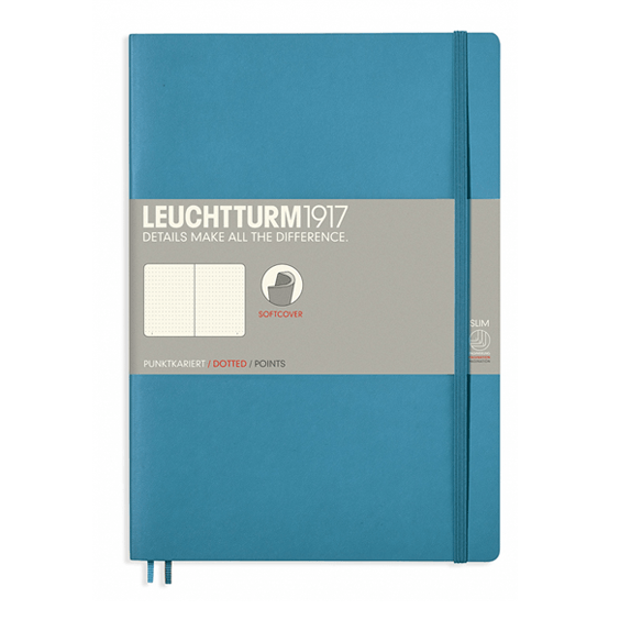 Leuchtturm B5 Nordic Blue Notebook Dotted Softcover