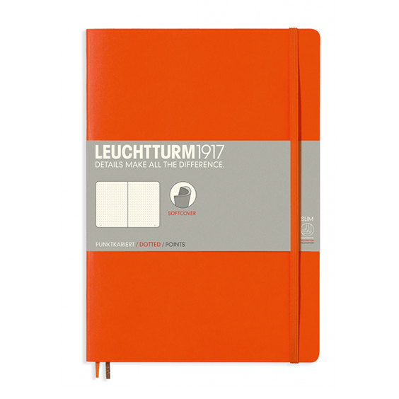 Leuchtturm B5 Orange Notebook Dotted Softcover