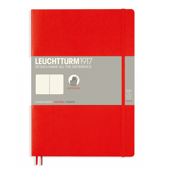 Leuchtturm B5 Red Notebook Dotted Softcover
