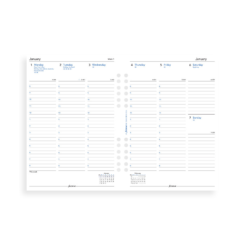 Filofax 2019 A5 Week On Two Pages Multi-Fit With Appointments Diary Insert