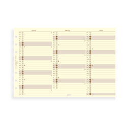 Filofax 2019 Personal Cream Cotton Year Planner Vertical Diary Insert