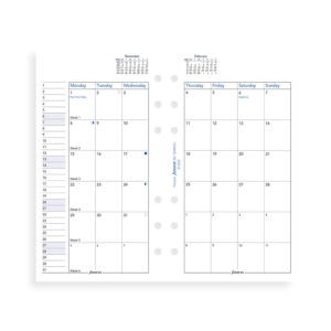 Filofax 2019 Personal Month On Two Pages Diary Insert