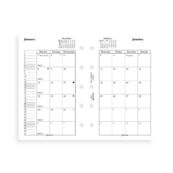 Filofax Mini 2019 Month On Two Pages Diary Insert