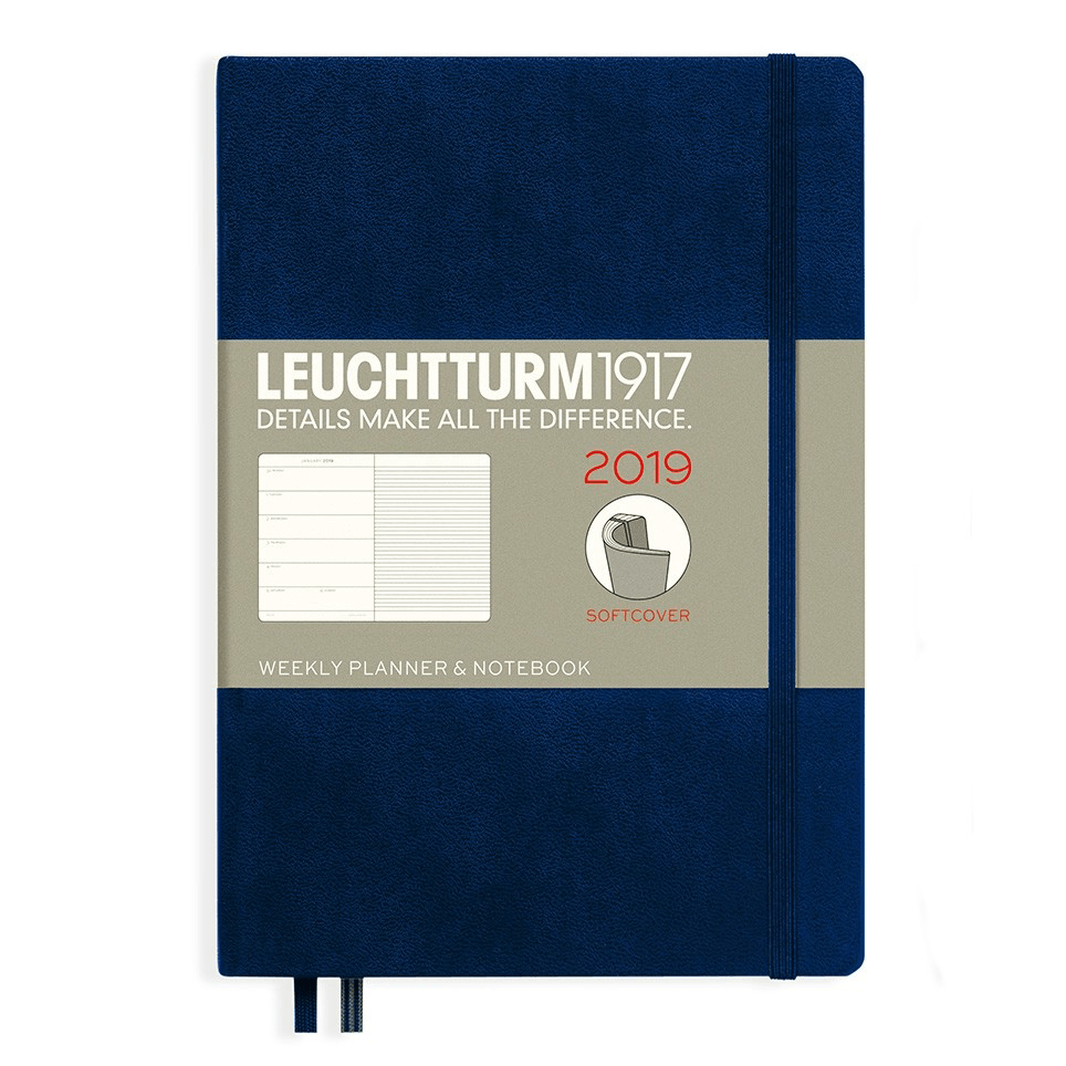 Leuchtturm Navy A5 Weekly Planner & Notebook Softcover – 2019