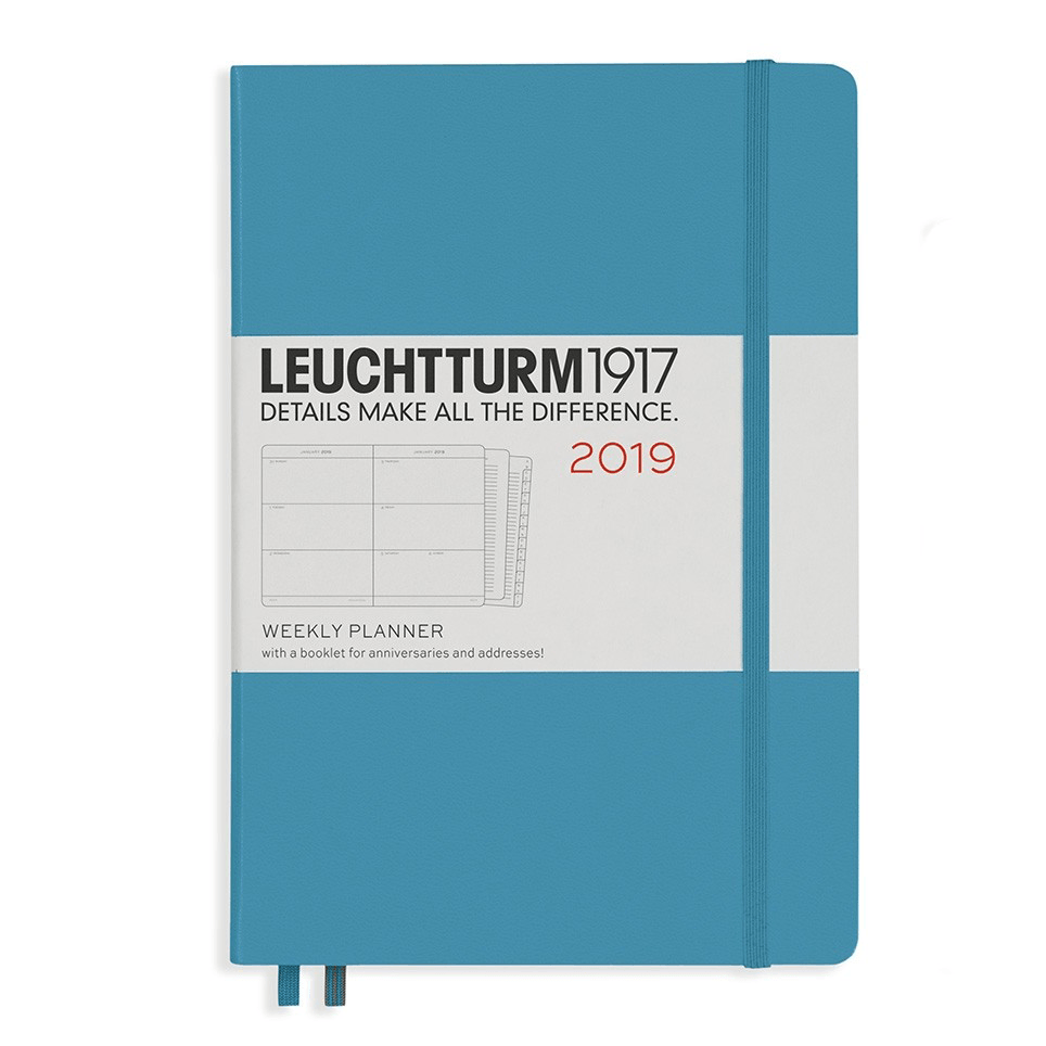 Leuchtturm Nordic Blue 2019 A5 Weekly Planner Hardcover – Horizontal