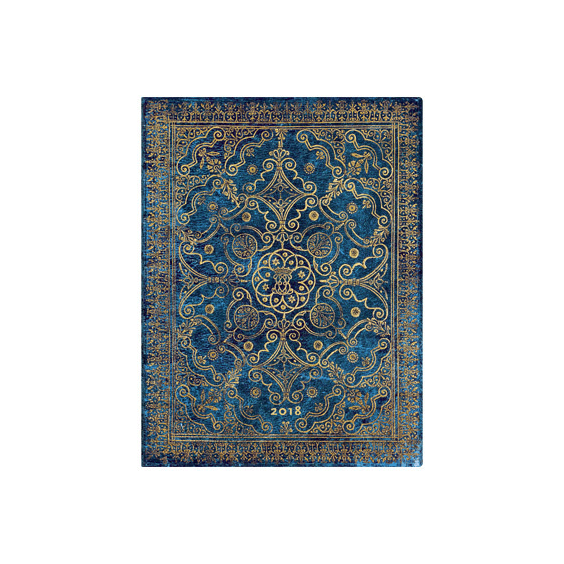 Azure Ultra Paperblanks 12 Month Day At A Time 2018 Diary