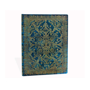 Azure Ultra Paperblanks 12 Month Week At A Time 2019 Diary – Verso