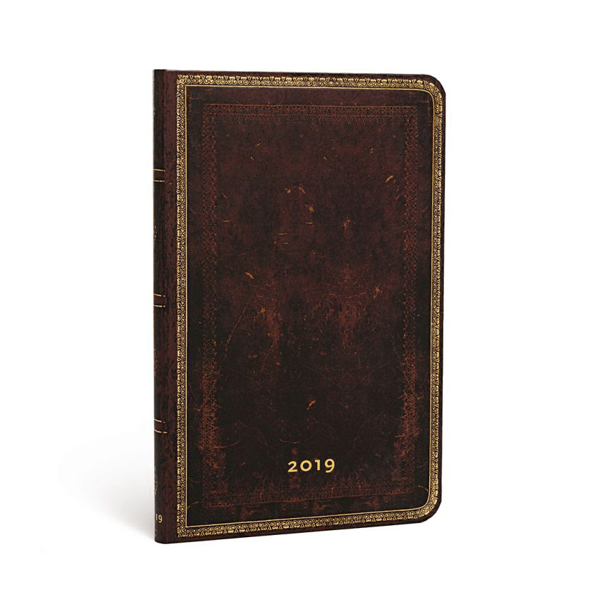 Black Moroccan Maxi Paperblanks 12 Month Week At A Time 2019 Diary – Horizontal