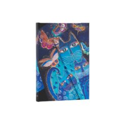Paperblanks Blue Cats and Butterflies 2021- Midi 12 Month Planner (Week At A Time)