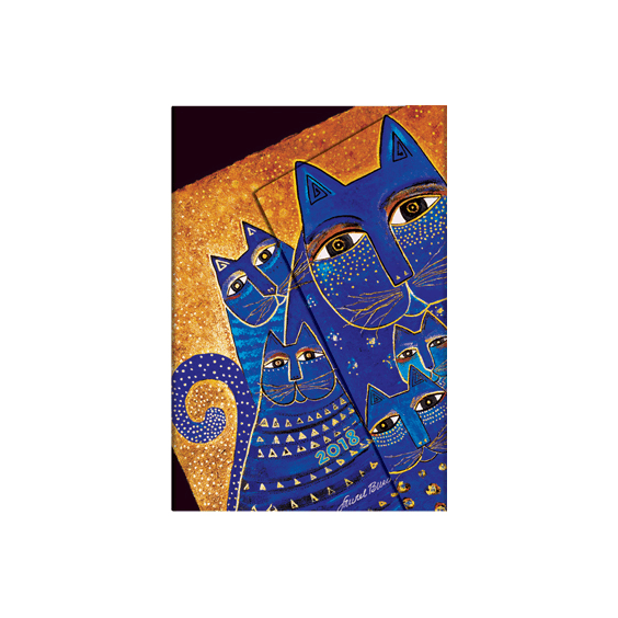 Mediterranean Cats Mini Paperblanks 12 Month Week At A Time 2018 Diary – Horizontal