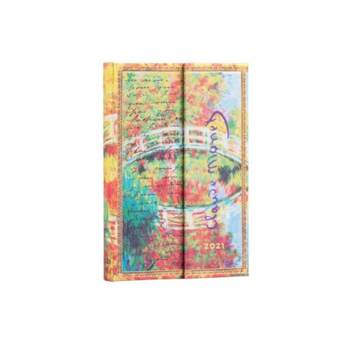 Paperblanks Monet (Bridge), Letter to Morisot 2021- Mini 12 Month Planner (Week At A Time)