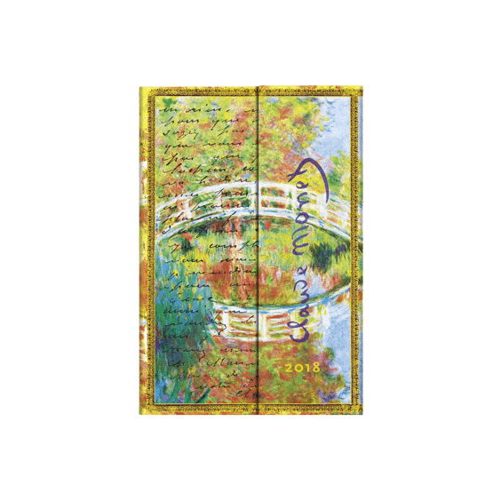 Monet (Bridge), Letter to Morisot Mini Paperblanks 12 Month Week At A Time 2018 Diary – Horizontal