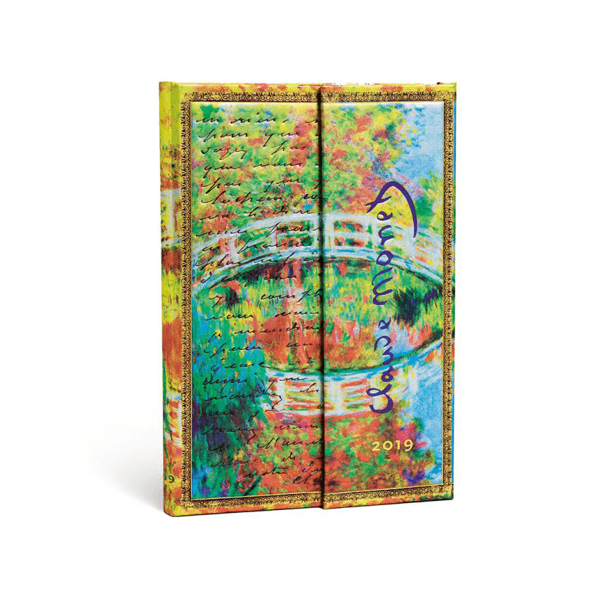 Monet (Bridge), Letter to Morisot Mini Paperblanks 12 Month Week At A Time 2019 Diary – Horizontal