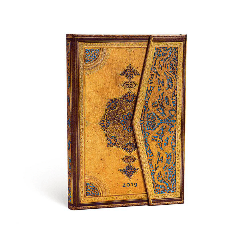 Safavid Mini Paperblanks 12 Month Week At A Time 2019 Diary – Horizontal