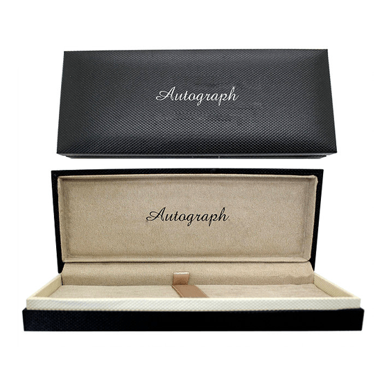 Autograph Abbey Silver Fountain Pen Case