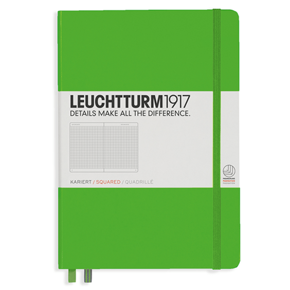 Leuchtturm A5 Fresh Green Notebook Medium Squared Hardcover