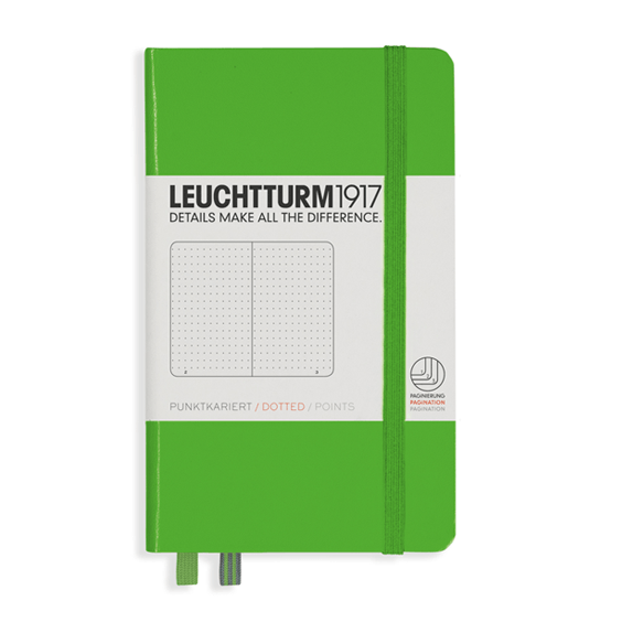 Leuchtturm A6 Fresh Green Notebook Pocket Dotted Hardcover