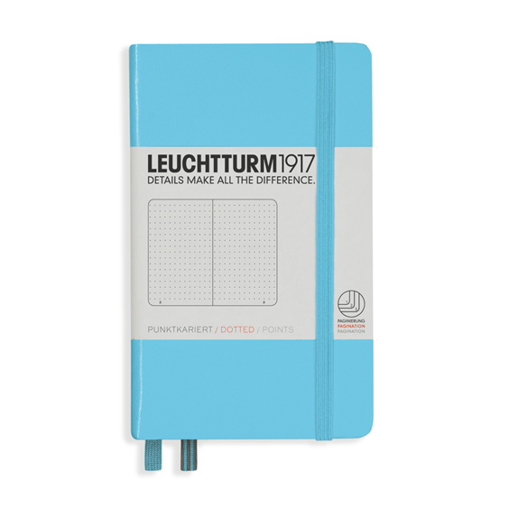 Leuchtturm A6 Ice Blue Notebook Pocket Dotted Hardcover