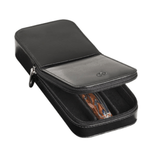 Visconti Leather Pen Case Holds Three Pens