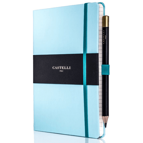 Castelli Blue Curacao Tuscan Ivory Notebook