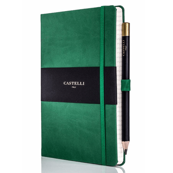 Castelli Forest Green Tuscan Ivory Notebook