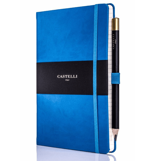 Castelli French Blue Tuscan Ivory Notebook