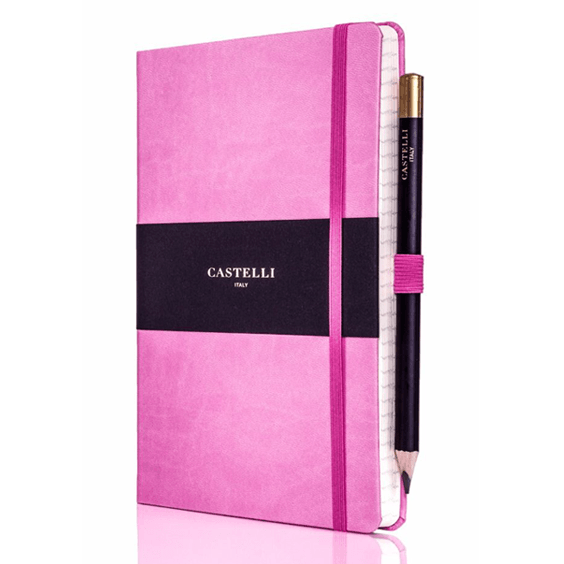 Castelli Pink Tuscan Ivory Notebook