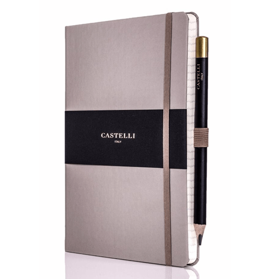 Castelli Taupe Tuscan Ivory Notebook