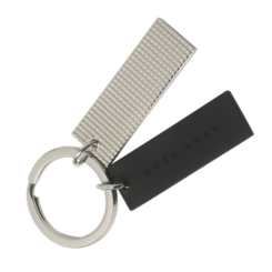 Hugo Boss Black Silver Grid Key Ring